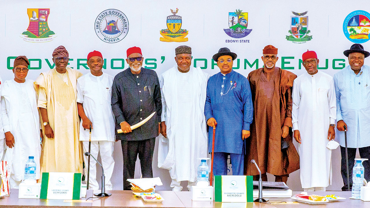 Southern governors back state collection of VAT, insist on 2023 presidency